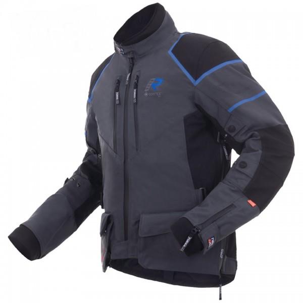 RUKKA Textiljacke EXEGAL Gore-Tex® 3-Lagen-Laminat schwarz blau TESTSIEGER!-Copy