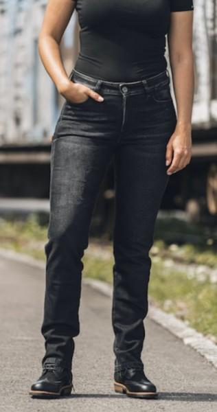 ROKKER Damen Jeans ROKKERTECH MID STRAGHT 2421 black
