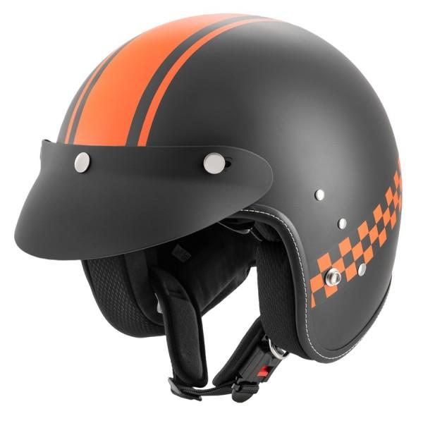 ROCC Jethelm CLASSIC PRO TT mattschwarz orange