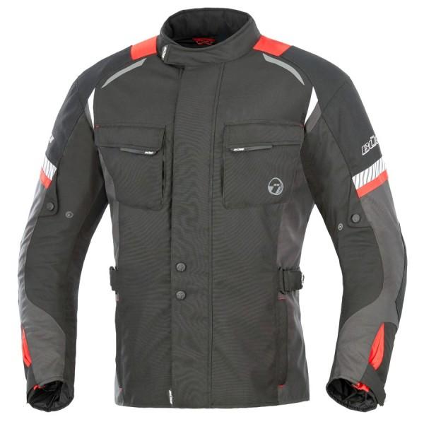 BÜSE Textiljacke BRENO wasserdicht schwarz-rot