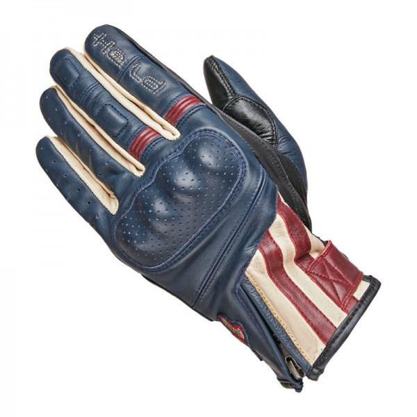 HELD Sommer Handschuhe PAXTON blau-beige-burgund