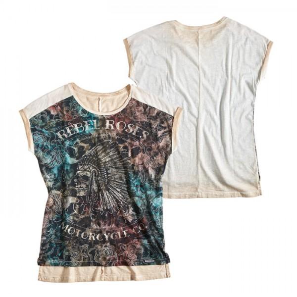 ROKKER T-Shirt Women REBEL ROSES APACHE