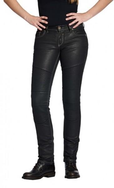ROKKER Damen Jeans THE DIVA BIKER STYLE 2002 schwarz