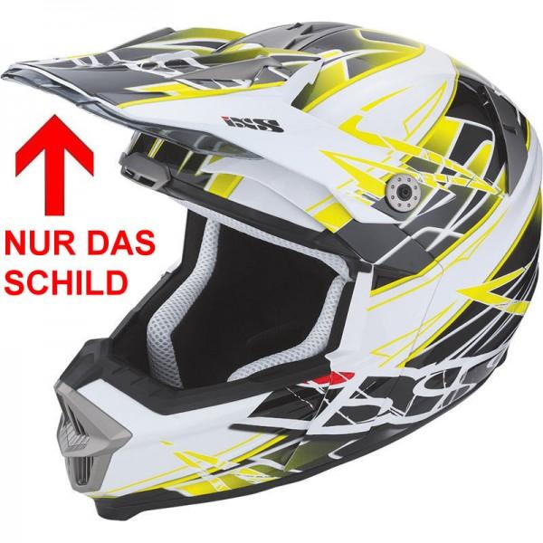 IXS Helmschirm für HX 178 weiss-gelb