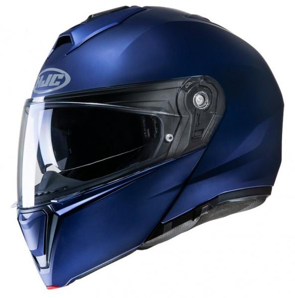 HJC Klapphelm I90 matt metallic blau