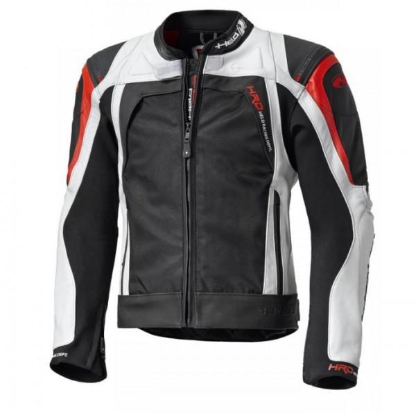 HELD Textil-Leder-Mix Jacke Sportjacke HASHIRO schwarz-rot