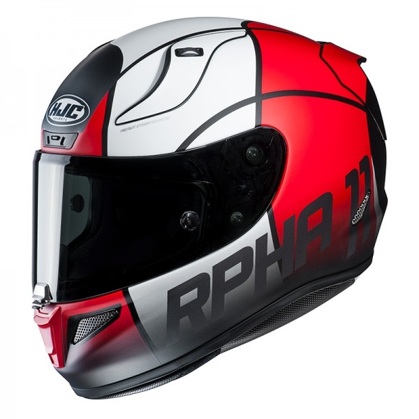 HJC Integralhelm RPHA 11 QUINTAIN MC-1SF weiss rot