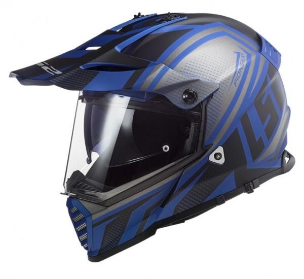 LS2 Offroadhelm MX436 PIONEER EVO MASTER mattschwarz-blau