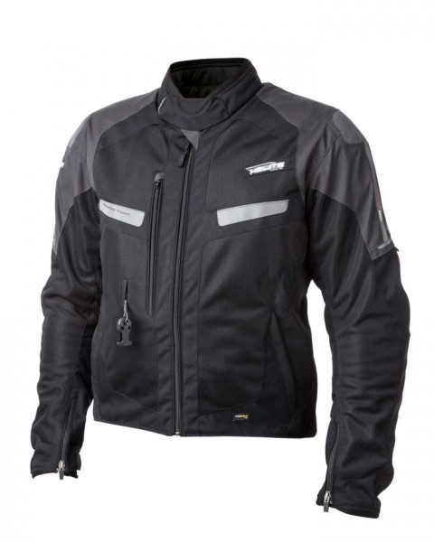 HELITE Airbag-Jacke Sommerjacke VENTED schwarz-grau