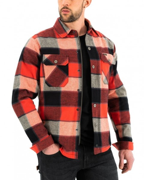 ROKKER Hemd Shirt BOULDER rot-schwarz