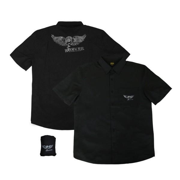 ROKKER Hemd Kurzarmhemd RIDER schwarz