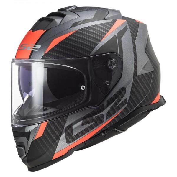 LS2 Integralhelm FF800 STORM RACER titanium fluo-orange