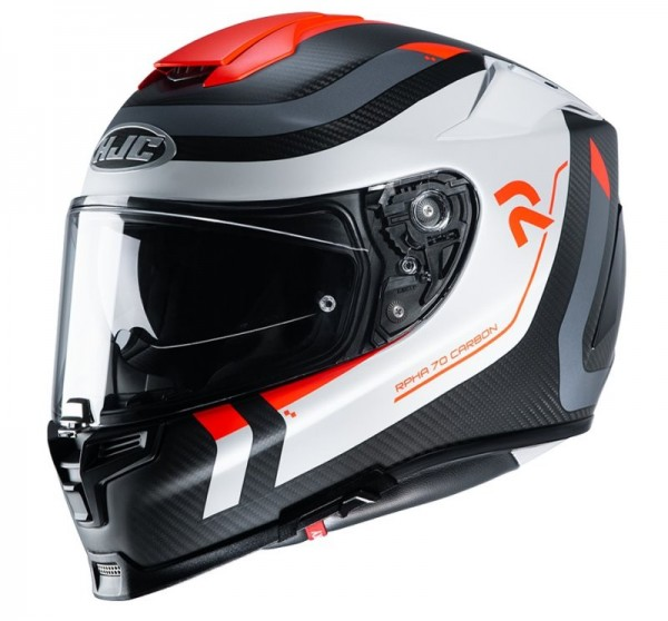 HJC Integralhelm RPHA 70 Carbon REPLE MC-6HSF weiss-grau-ro