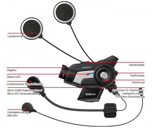 SENA 10C Bluetooth Kamera + Kommunikationssystem