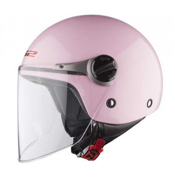 LS2 Jethelm OF575 WUBY SOLID JUNIOR pink
