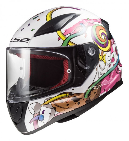 LS2 Kinder Integralhelm FF353J RAPID MINI CRAZY POP
