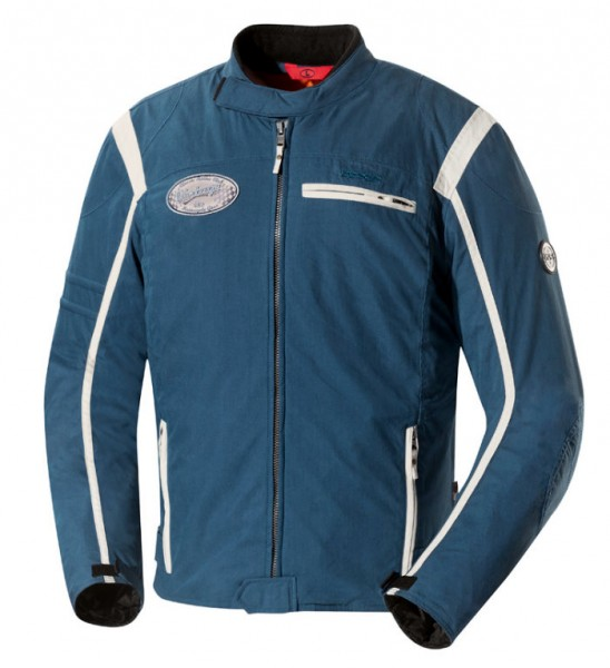 IXS Textiljacke RIDLEY blau-beige