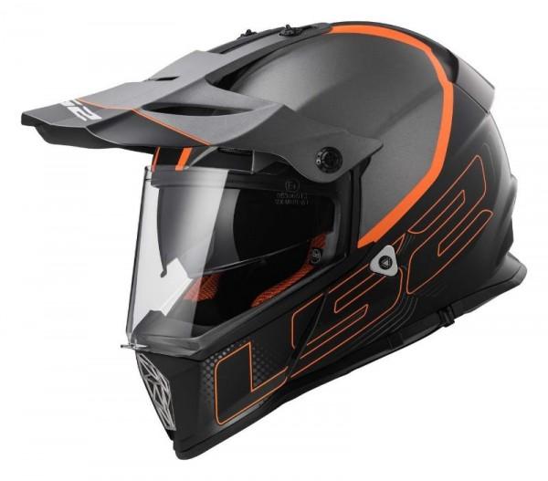 LS2 Offroadhelm MX436 PIONEER ELEMENT matt titan orange