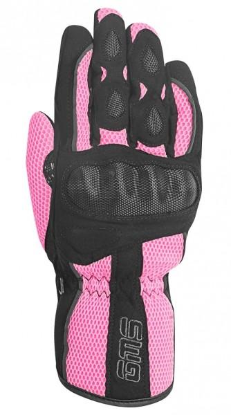 GERMAS Damen Handschuhe FLOW schwarz-pink