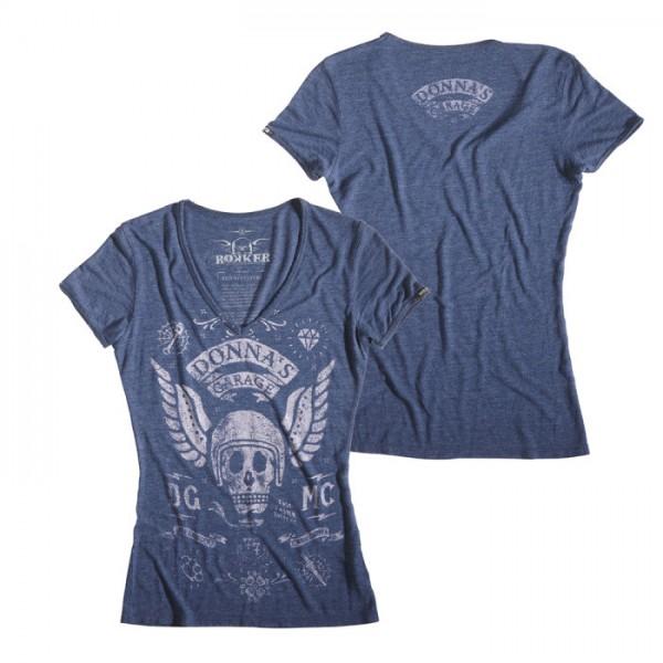 ROKKER T-Shirt Women DONNAS MC blue