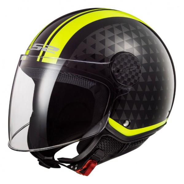 LS2 Jethelm OF558 Sphere Lux CRUSH schwarz gelb