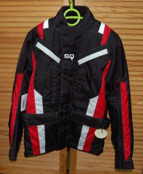 RACER Textiljacke HAWK schwarz-rot-weiss