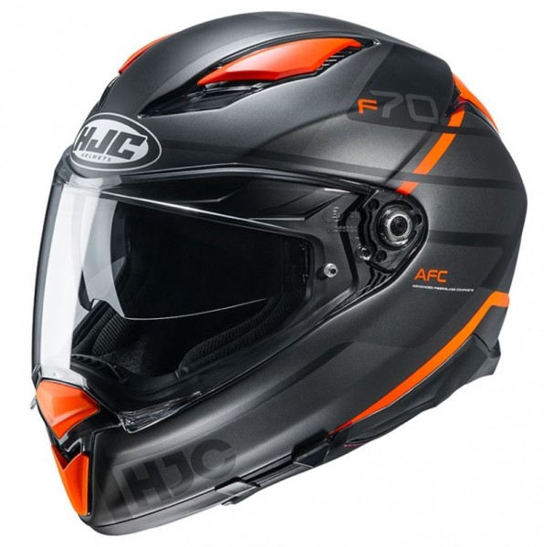 HJC Integralhelm F70 TINO MC-7SF mattschwarz-orange