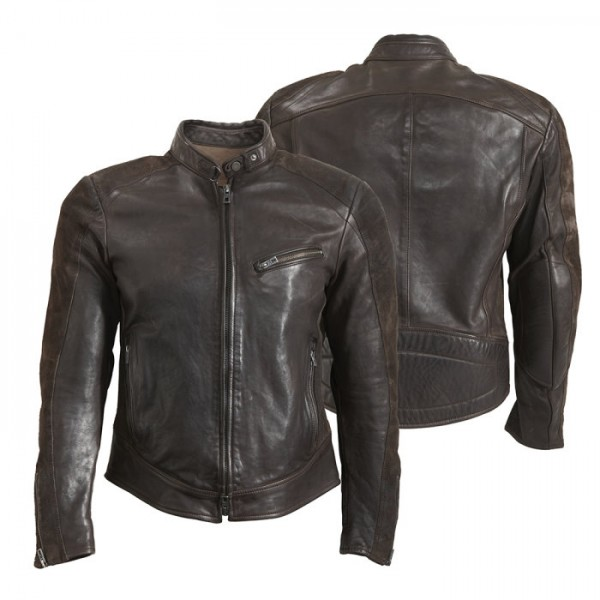 ROKKER Lederjacke CAFE RACER Leather Jacket