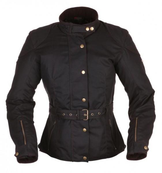 MODEKA Damen Textiljacke Wachsjacke LOLA schwarz