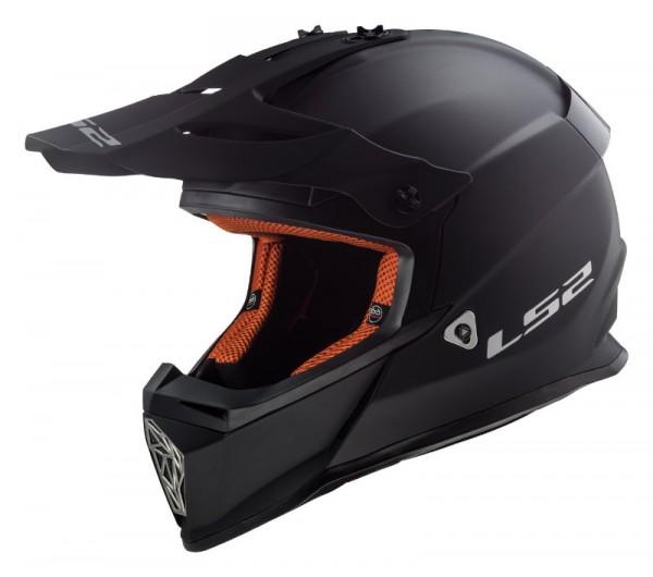 LS2 Offroadhelm MX437 FAST matt schwarz