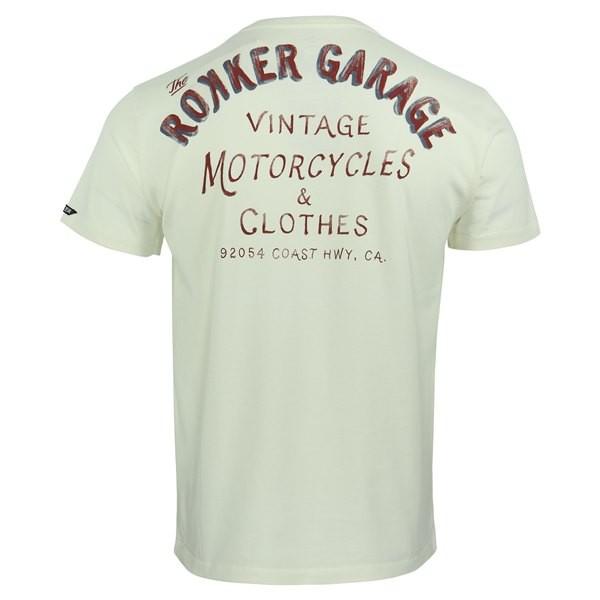 ROKKER T-Shirt ROKKER GARAGE dirt white