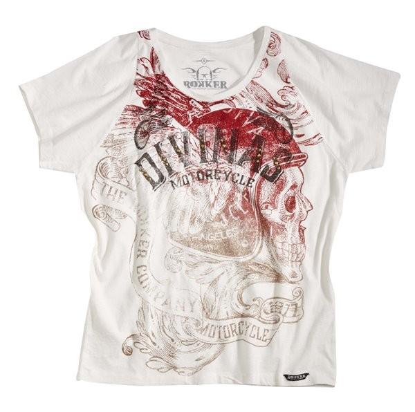 ROKKER T-Shirt Women DIVINAS white