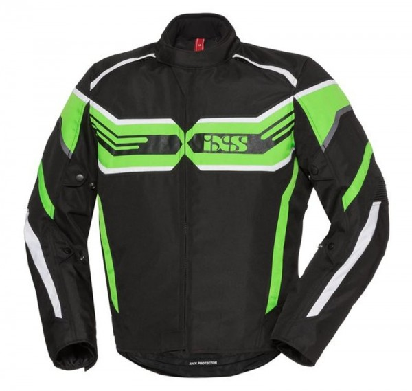 IXS Textiljacke RS-400 ST schwarz-grün-weiss