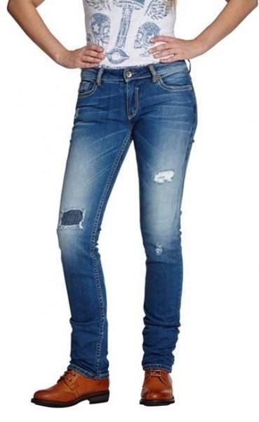 ROKKER Damen Jeans THE DIVA DISTRESSED 2003 blau