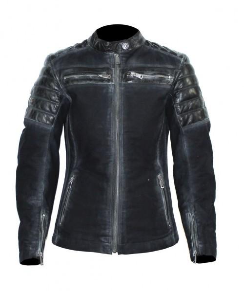 BELO Leder Textil Damenjacke MILES PRO schwarz