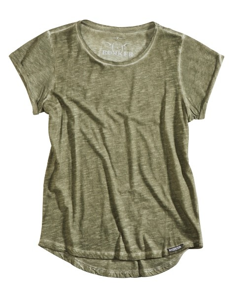 ROKKER T-Shirt Women RKK BIRDIE army green