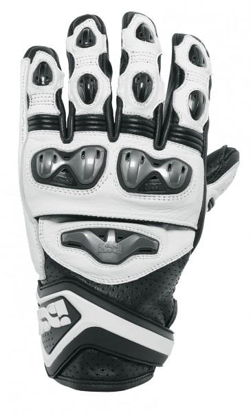 IXS Sport Handschuhe RS-400 schwarz-weiss kurz