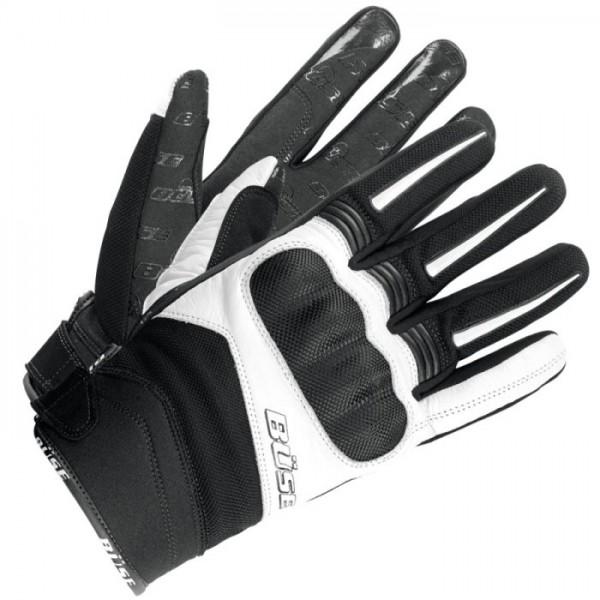 BÜSE Handschuhe OPEN ROAD Evo schwarz-weiss