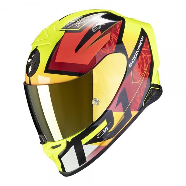 SCORPION Integralhelm EXO-R1 Air INFINI schwarz-rot-gelb