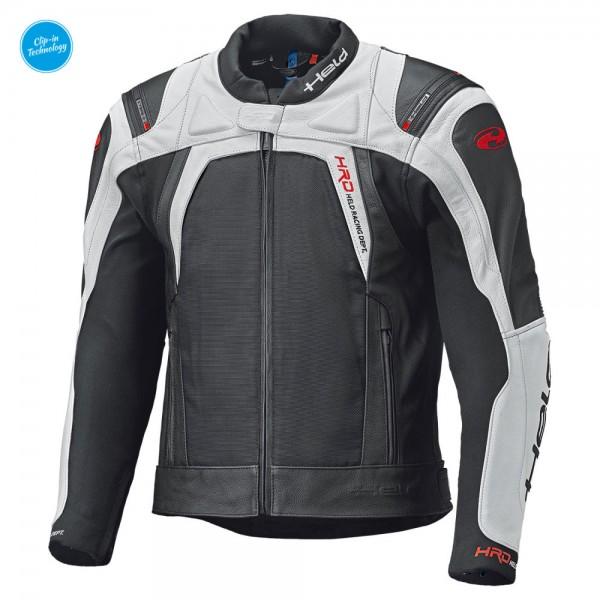 HELD Textil-Leder-Mix Jacke Sportjacke HASHIRO II schwarz-weiss