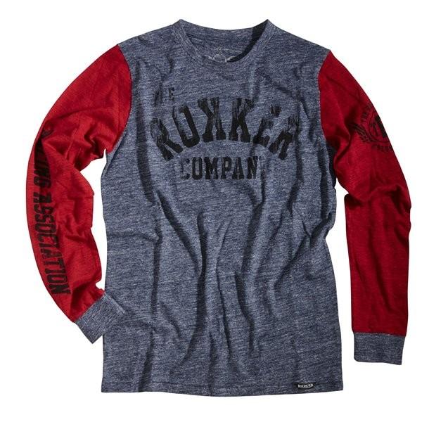 ROKKER Shirt Longsleeve TEAM 77 blau-rot