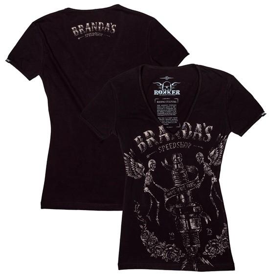 ROKKER T-Shirt Women BRANDAS black