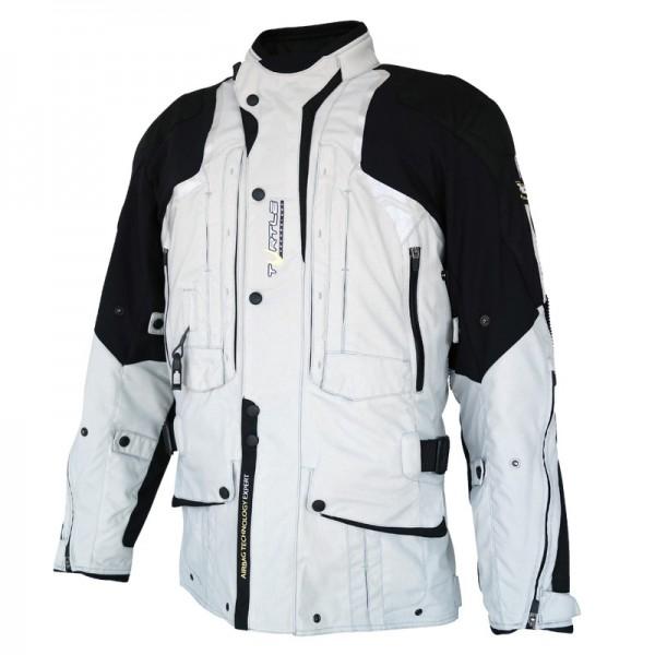 HELITE Airbag-Jacke Textiljacke TOURING 2.0 grau-schwarz