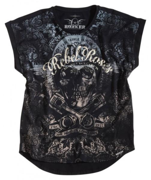 ROKKER T-Shirt Women REBEL ROSES 77