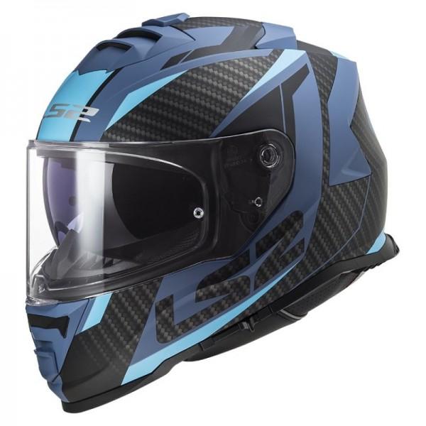 LS2 Integralhelm FF800 STORM RACER matt blau