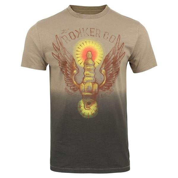 ROKKER T-Shirt WINGS dirt white