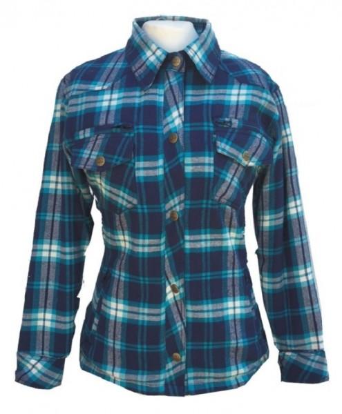 BORES Kevlar Damen Hemd LUMBERJACK blau wasserdicht