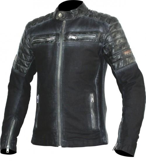 BELO Leder Textil Jacke MILES schwarz