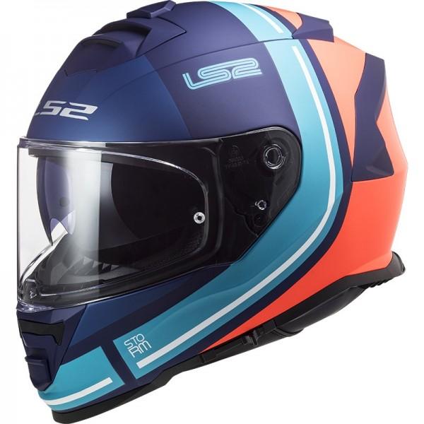 LS2 Integralhelm FF800 STORM SLANT mattblau orange