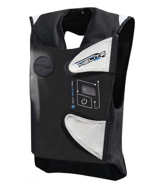 HELITE Airbag-Weste E-GP-AIR elektronisch schwarz-weiss